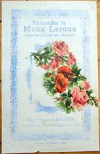1900 Chicoree/Moka Advertising w/Victorian Diecut Scrap: Assorted Flowers - 10