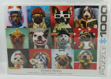 Eurographics Puzzle Funny Dogs 1000 pieces, selfies, glasses, hats  NEW