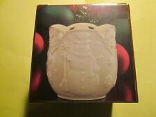Nib Lenox Merry Lights Votive Tea Light Candle Holder Snowman Christmas ~ New!