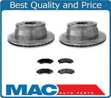 (2) Rear Disc Brake Rotor & Ceramic Pads for Chevrolet Blazer GMC Jimmy Bravada