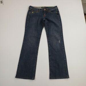 Volcom Womens size 5 Juniors Denim Jeans Bootcut Pants Medium Wash Cotton 30x30