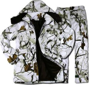 Waterproof Winter Snow Field Bionic Camouflage Ghillie Suit Padded Jacket Pants
