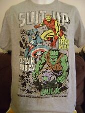 MARVEL COMICS-T-SHIRT-Men's Med.  IRON MAN-CAPT. AMERICA-HULK COMIC #59