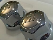GENUINE ALCOA NAMED CHROME WHEEL NUT COVERS FITS EITHER 32MM OR 33MM WHEEL NUTS