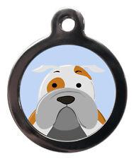 English Bulldog Pet Tags -Custom Dog Cat ID Collar Tag-Engraved Free Dog Name ID