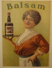 Original Antique BALSAM Liquor WINE Ratinck Freres BELGIUM Lithograph POSTER