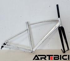 Telaio bici GRAVEL / Ciclocross alluminio + FORCELLA carbonio taglia M GREZZO