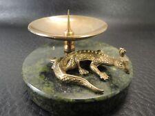 Rare Antique bronze Dragon w/ marble base  candlestick