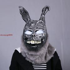 Halloween Donnie Darko FRANK Bunny Rabbit Cosplay Hooded Mask W/Fur Mens Womens