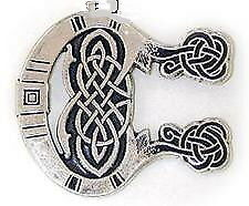 Ster. Silver Lg Celtic MONOGRAM Pendant INITIAL C from Book of Kells Brand NEW!