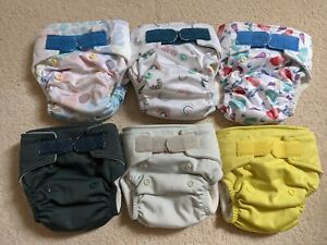 Baba And Boo Newborn Reusable Cloth Pocket Nappies EUC