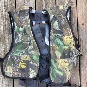 Hunter Safety System Vest Safety Harness Sz L - XL Large Xtra Large Realtree