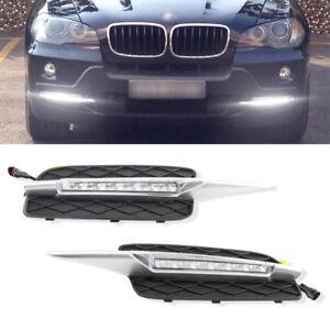 BMW X5 E70 2007-2009 LED Daytime Running Light  DRL Fog Light Front Bumper Lamp
