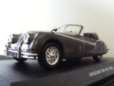 Jaguar XK 140 DHC 1956 in Gunmetal with Red Interior New  Solido 1:43 SCALE
