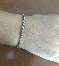 Bracelet rivière de diamants or 750 bicolore 18 carats, Diamants 1,04 Carat