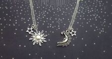 2pcs My Moon and Sun Stars Necklace Set Couple Best Friend His Hers Love Celtic