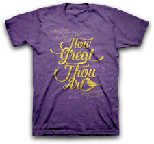 How Great Thou Art - Kerusso Christian T-shirt - Purple - X Large