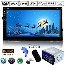 """7"""" Double 2DIN In Dash Car Stereo CD DVD Player USB SD Bluetooth IPOD FM Radio"""