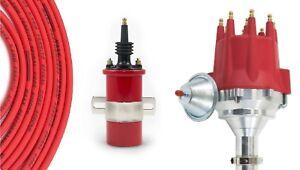 Billet Distributor 8.5mm Spark Plug Wires Coil Big Block Chevy 7.0L 427 7.4L 454
