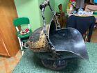 Rare Antique Tole Coal Scuttle Ash Can Bucket Fireplace Toleware
