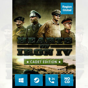 Hearts of Iron IV 4 Cadet Edition for PC Game Steam Key Region Free