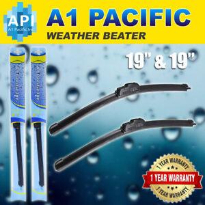 """Bracket less Windshield Wiper Blades 9x3 J HOOK OEM QUALITY  19"""" & 19"""" Ines"""