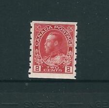 Canada Stamps 127 SG 221 2c Crmine Coil Pf 8 MNH F/VF 1913 SCV $80.00