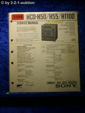 Sony Service Manual HCD H50 / H55 / H1100 Component System (#3344)