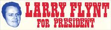 Larry Flynt For President   Vintage Bumper Sticker  Hustler Magazine  1970's