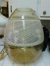 MONUMENTAL 3 PIECE 1970'S ITALIAN MURANO GLASS MAZZEGA EGG LAMP