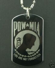 POW MIA PRISONERS OF WAR  Dog Tag Pendant Necklace