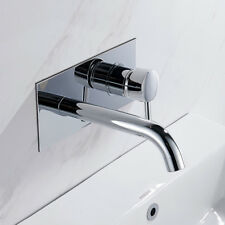 Chrome Bath Overflow Filler Tap Bathroom Wall Mounted Basin Sink Mixer Taps