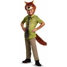 Zootopia Nick Wilde Costume Kids Child Disguise Disney Sz M 7-8 New   US Seller!