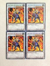 YuGiOh Gaia Knight, the Force of Earth DL17-EN011 All 4-Color Set Duelist League