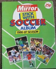 Daily Mirror 1986/87 Football Sticker Album. Approx 50% Complete.