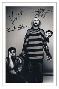 NIRVANA Group Signed Autograph PHOTO Fan Gift Print Kurt Cobain Grohl Kovoselic