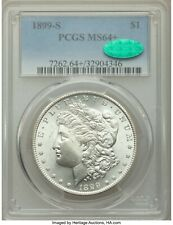 1899-S MORGAN DOLLAR, NICE ORIGINAL LOOK - WHITE PCGS-64+ CAC - nnxb