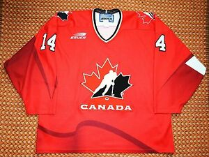 Team Canada, #14 Shanahan, Authentic Bauer Jersey, Size - XL, Sewn
