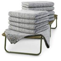 10 Pack U.S. Military Surplus Emergency Disaster Wool Blankets Thermal Cabin