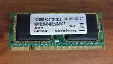 SDN12864S4B52MT-60CR 1024MB PC-2700-2533 SWISSBIT