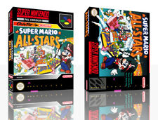 Super Mario All Stars SNES Replacement Game Case Box+ Cover Inlay No Game