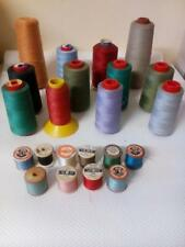 Sewing machine Yarn Job Lot Coats Thread Sylko Thread Wooden Bobbins Cotton