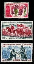1963 French Andorra Sc #155-157 Historic Events set of 3 Mint NH; SCV $27.50