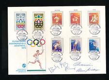Schweizer Sportbrief Olympiade Montreal 1976 + einige Unterschriften    (C2)