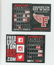 Fredericton Red Wings pocket schedule 2019-20 Maritime Junior Hockey League