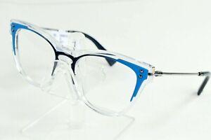 Valentino Blue Clear Oval Eyeglasses Womens Italy VA3019 5077 51/18/140