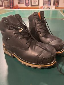 Timberland Pro Mens Size 9 Black Boots-Waterproof. Slip And Oil Resistant