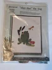 Ribet Ribet The Frog Vintage Crewel Embroidery Kit Paragon 14x18 Lotus