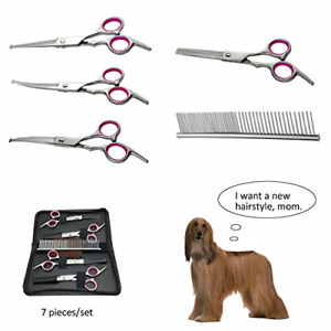 MY-PETS Dog Grooming Scissors Kit Pet Cat Grooming Trimmer Canine Clippers Tips