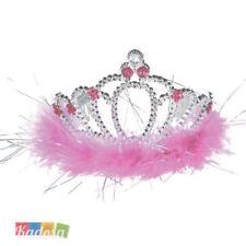 922fd3a20 Corona Tiara argento pietre rosa Addio Nubilato Sposa Festa bimba  principessa